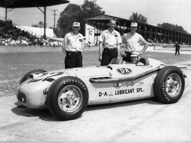 1953 Kurtis Kraft Offenhauser Indy 500 Race Car racing retro wallpaper