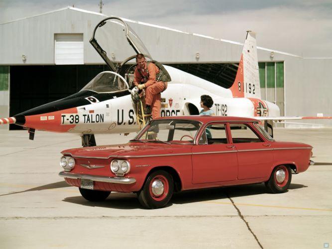 1960 Chevrolet Corvair 700 Sedan (700-69) classic jet military g wallpaper