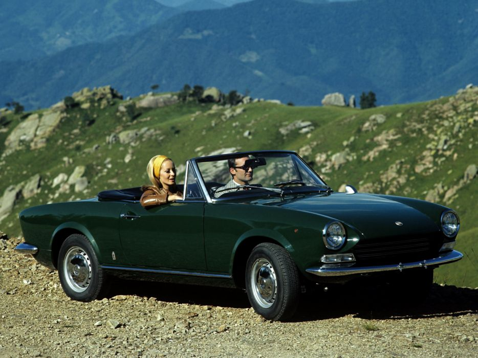 1966 Fiat 124 Sport Spider (AS) classic   t wallpaper