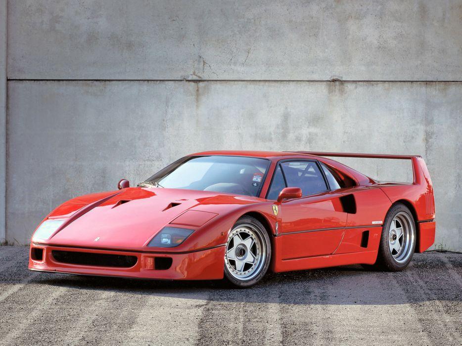 1989 Ferrari F40 Valeo supercar    g wallpaper