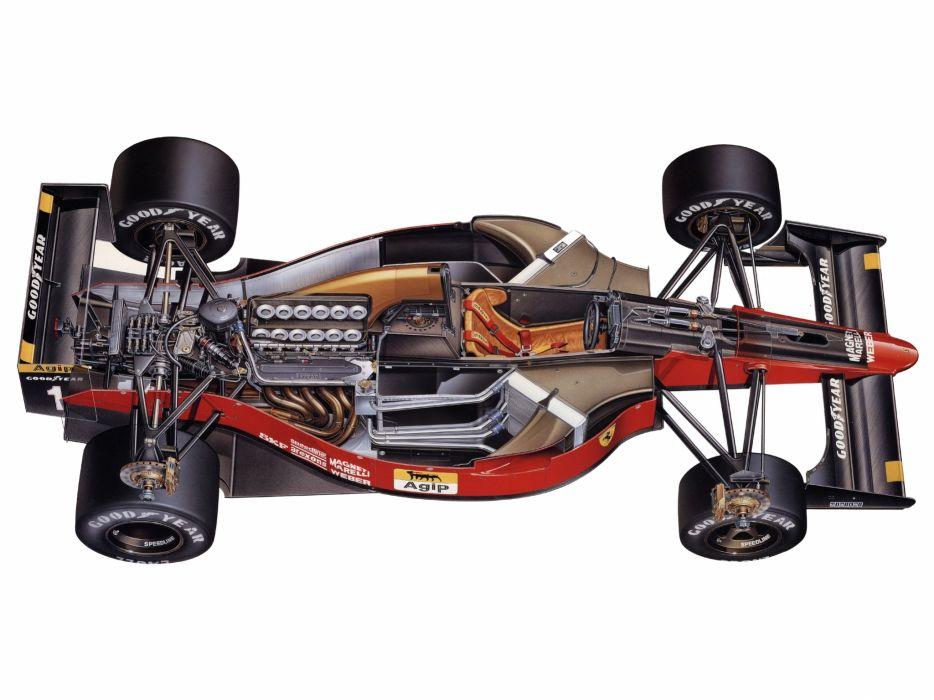 1990 Ferrari 641 formula one f-1 race racing interior engine        g wallpaper