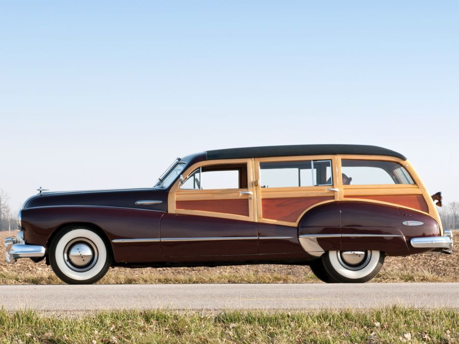1947 Buick Roadmaster Estate Wagon (79) stationwagon retro wallpaper