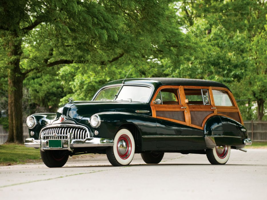 1947 Buick Super Estate Wagon (59) stationwagon retro  f wallpaper