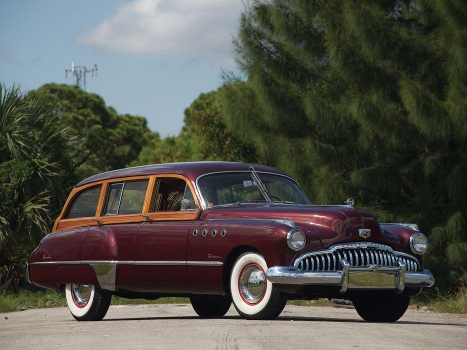1949 Buick Roadmaster Estate Wagon retro stationwagon wallpaper