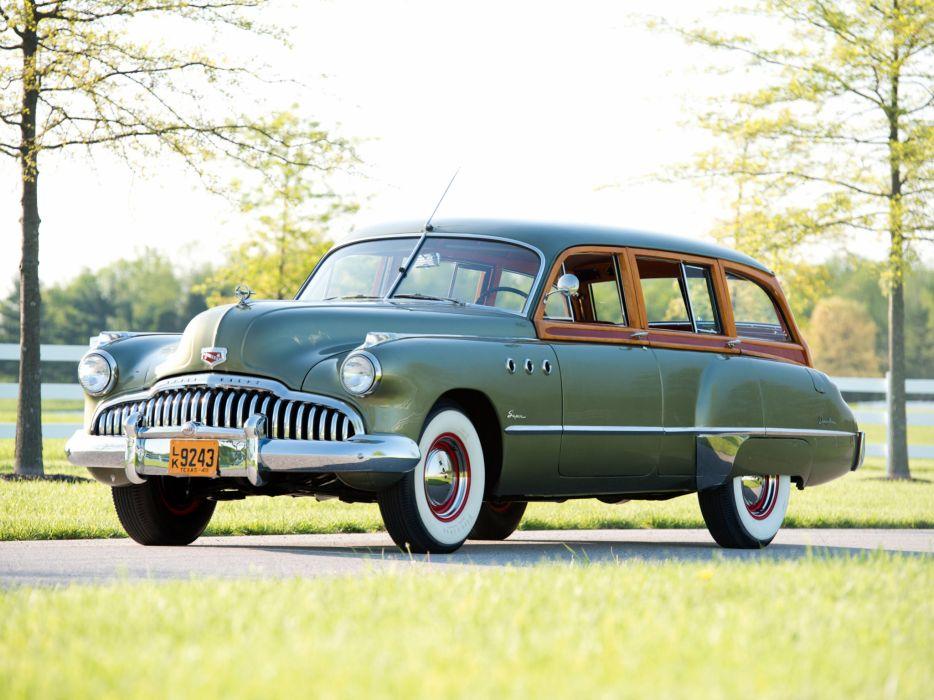 1949 Buick Super Estate Wagon stationwagon retro   h wallpaper