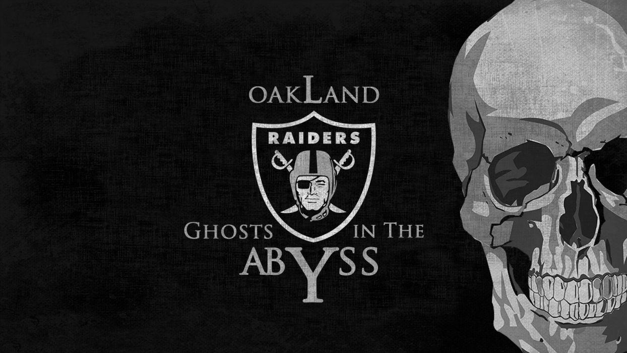 OAKLAND RAIDERS nfl football dark skull wallpaper