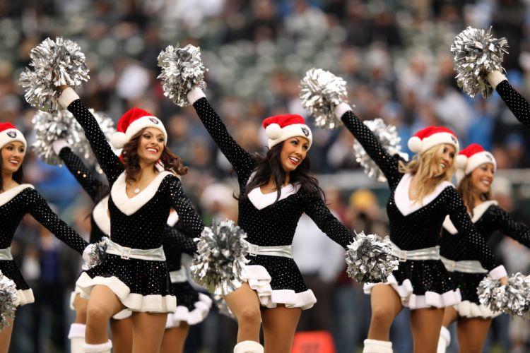 cheerleader nfl football los angeles raiders christmas f wallpaper