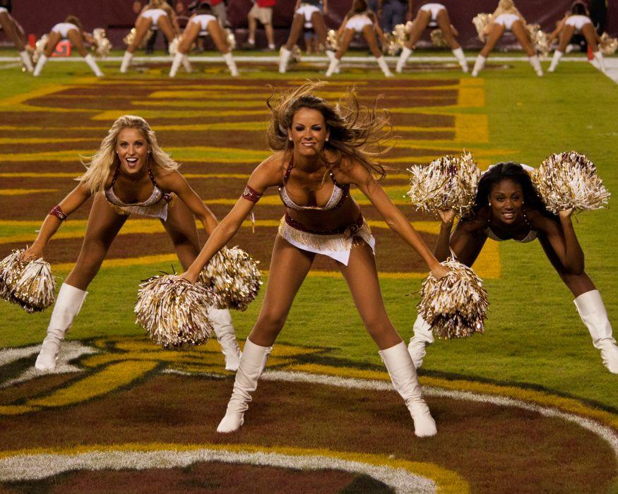 cheerleader nfl football washington redskins   d wallpaper