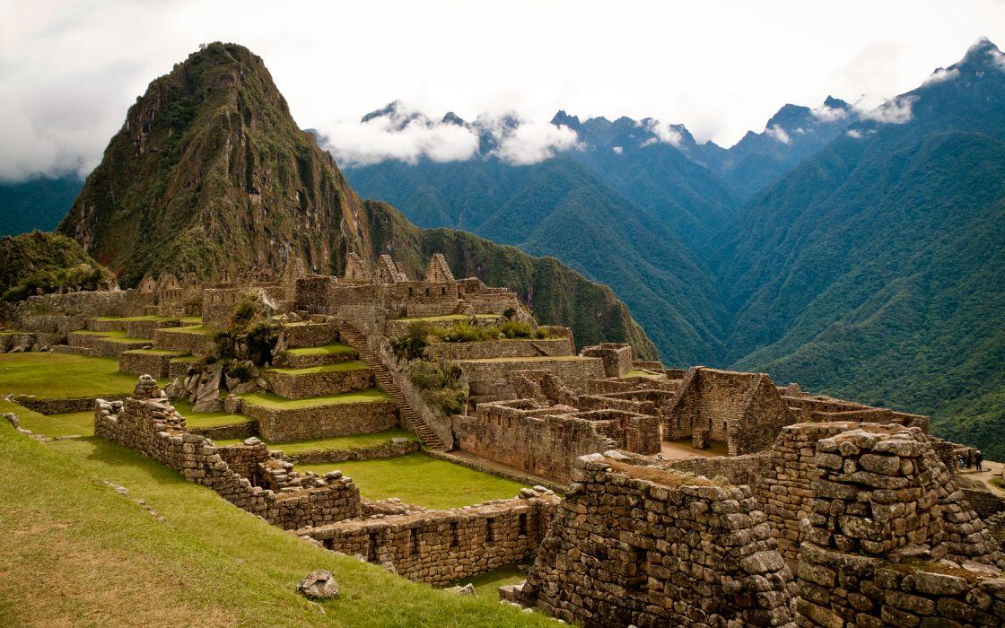 Cityscape Machu Picchu wallpaper