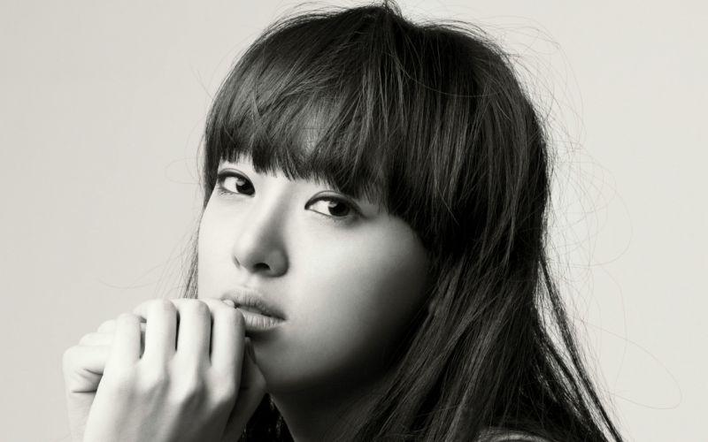 Woman Girl Beauty Asian Monochrome After School Lee Jooyeon wallpaper