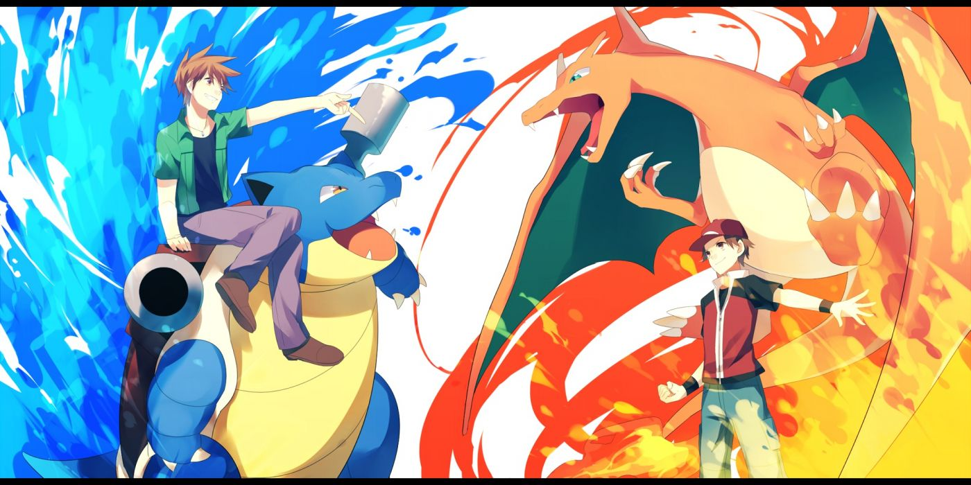 pokemon achiki blastoise charizard fire hat ookido green pokemon red (pokemon) water wallpaper
