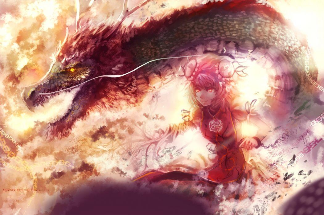 touhou dragon ibara kasen shinigamiwyvern wallpaper