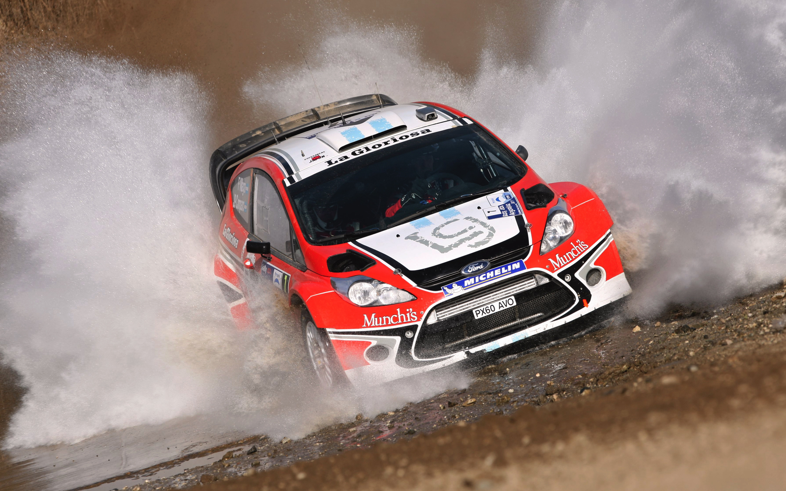 Car wrc fiesta rally ford cars speed race racing wallpaper