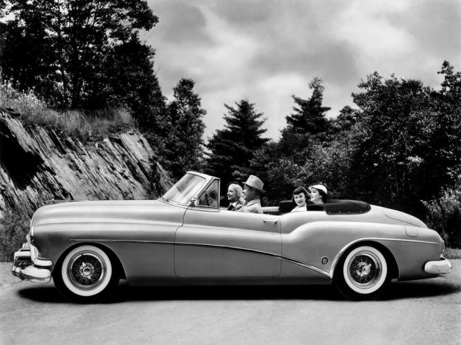 1952 Buick Skylark convertible retro luxury f wallpaper