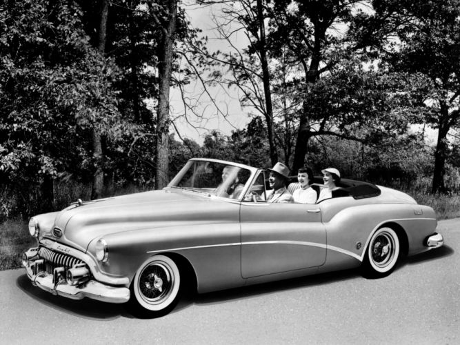 1952 Buick Skylark convertible retro luxury wallpaper