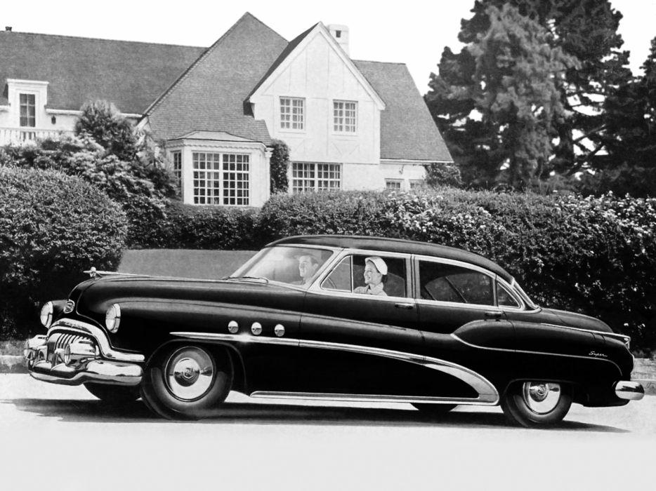 1952 Buick Super Riviera Sedan (52) retro wallpaper