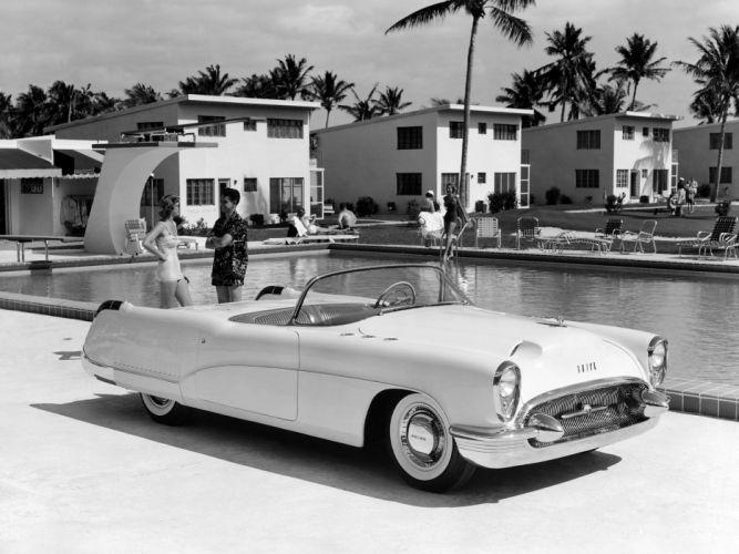 1953 Buick Wildcat Concept Car retro f wallpaper