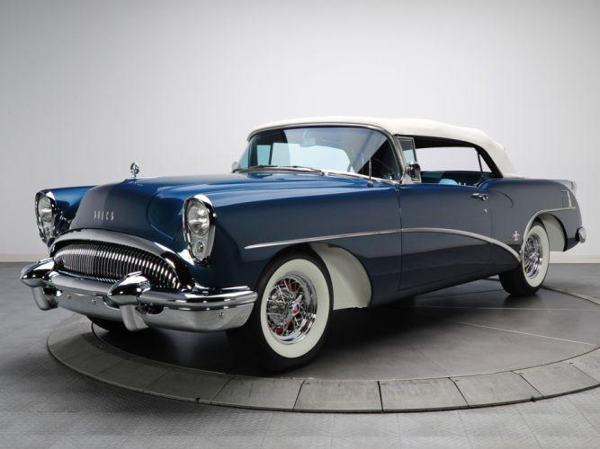 1954 Buick Skylark (4667SX) convertible retro f wallpaper