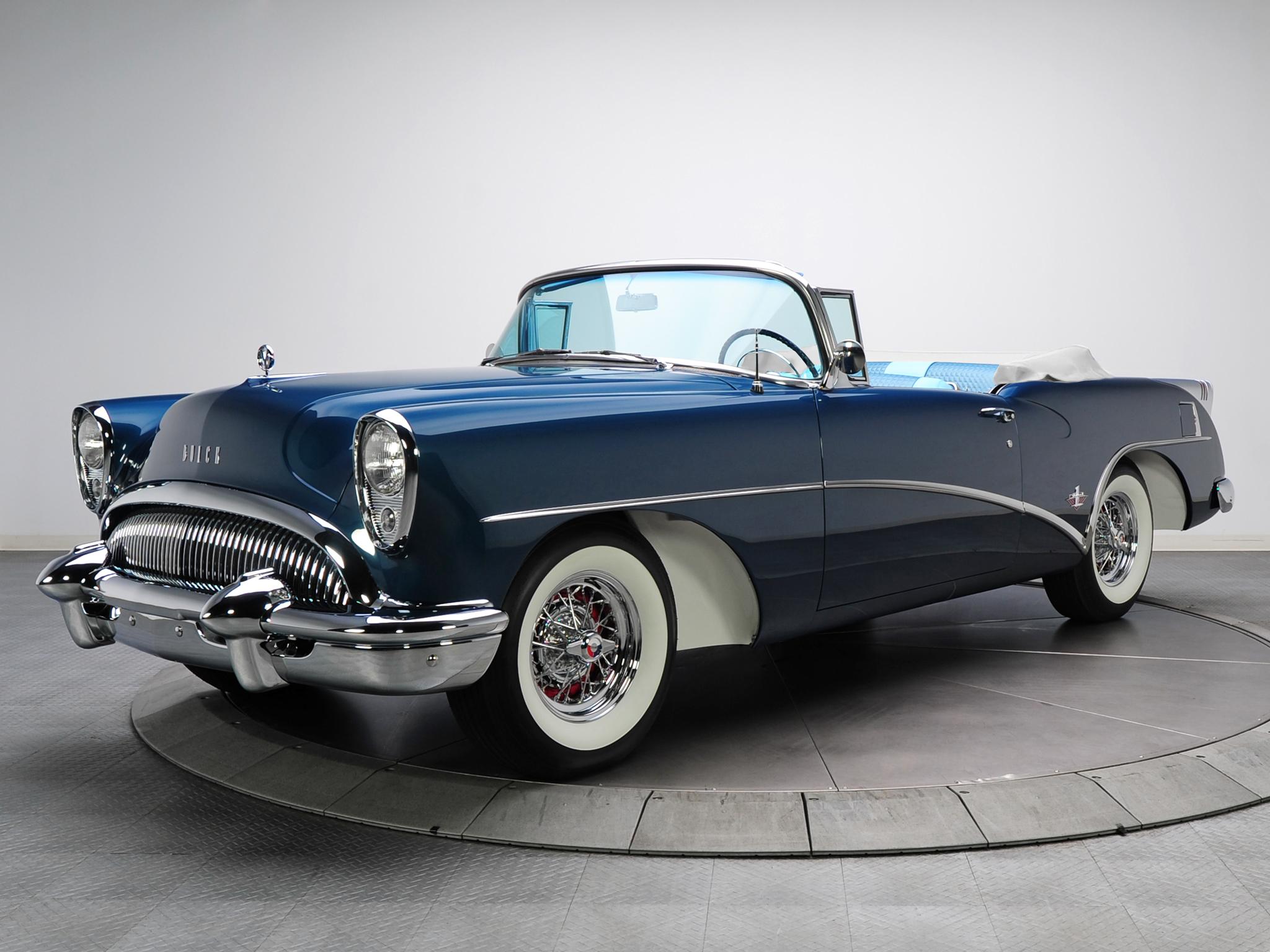 1954 Buick Skylark 4667sx Convertible Retro D Wallpaper