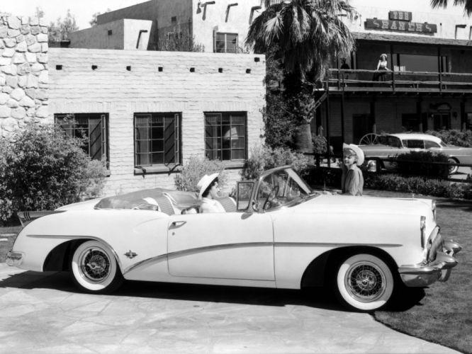 1954 Buick Skylark (4667SX) convertible retro t wallpaper