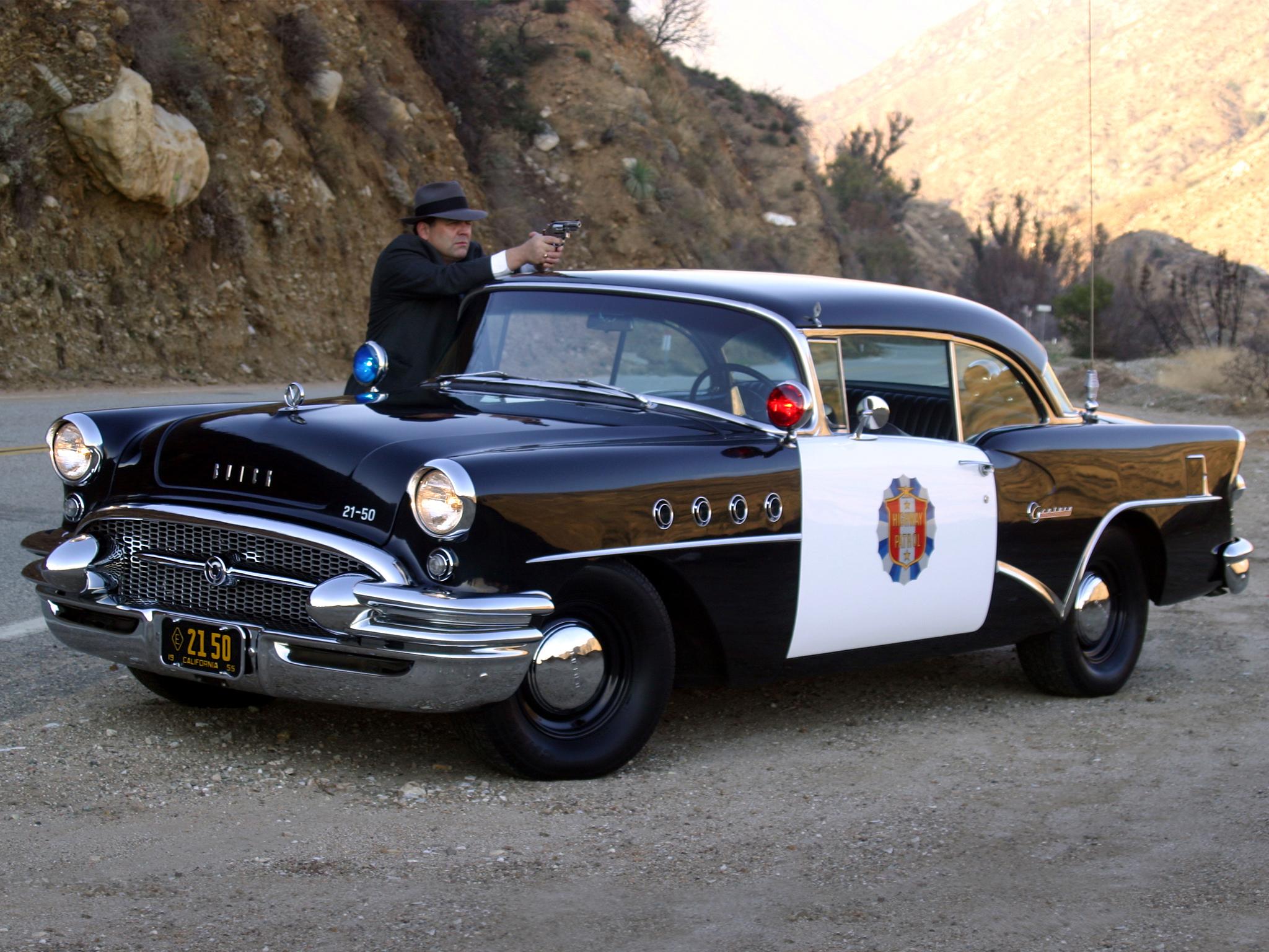 1955 Buick Century Sedan Highway Patrol Police Retro Y