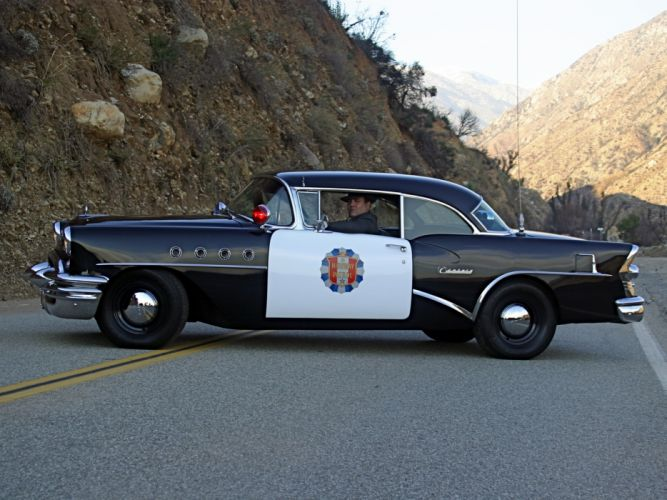 1955 Buick Century Sedan Highway Patrol Police retro h wallpaper
