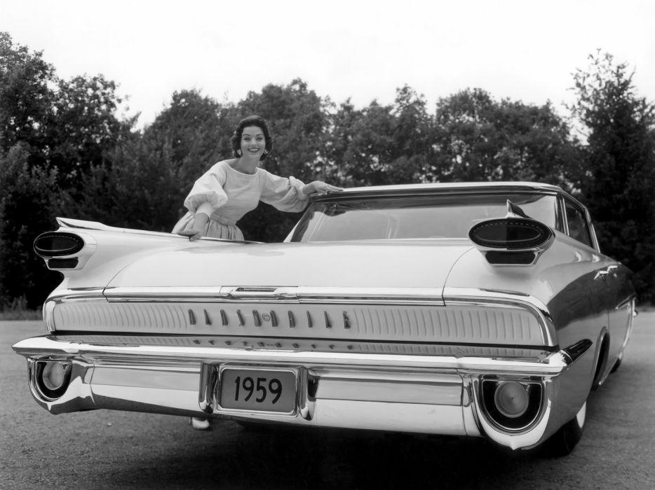 1959 Oldsmobile Super 88 Holiday Sport Sedan (3539) retro 8-8 wallpaper
