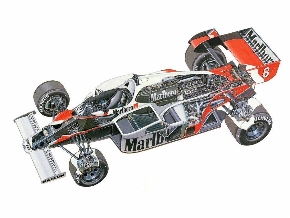 1984 McLaren MP4-2 formula one f-1 race racing interior engine       f wallpaper