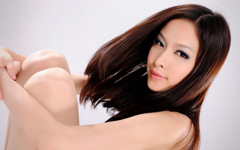 Woman Girl Beauty Brunette Asian wallpaper