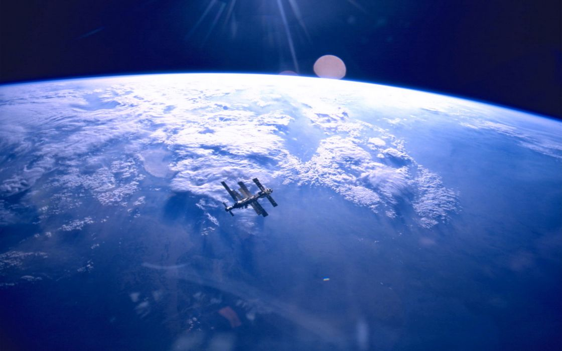 Outerspace Earth From Space wallpaper