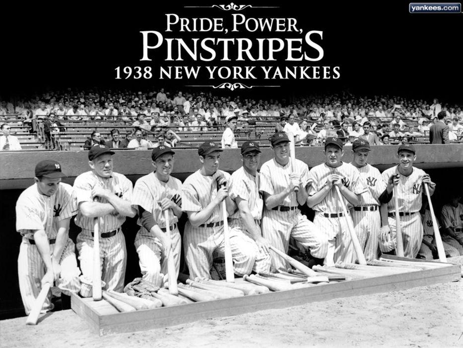 1938 NEW YORK YANKEES baseball mlb wallpaper