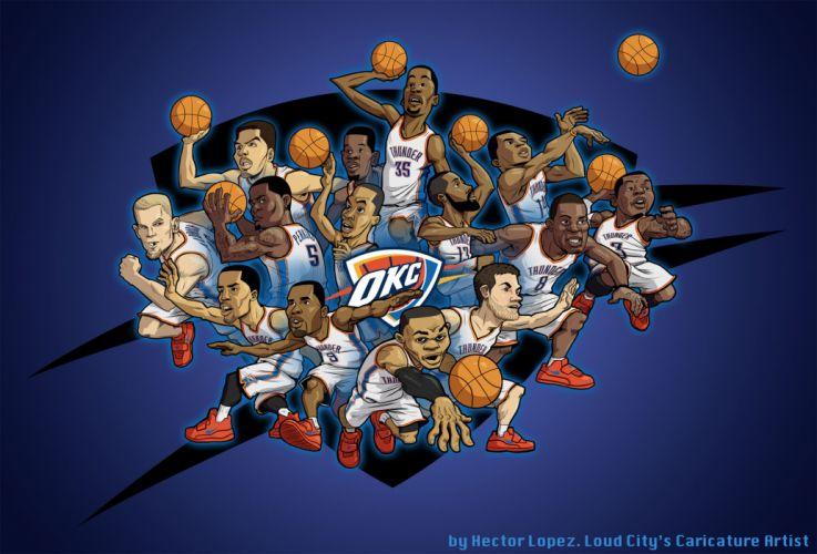 OKLAHOMA CITY THUNDER basketball nba r wallpaper