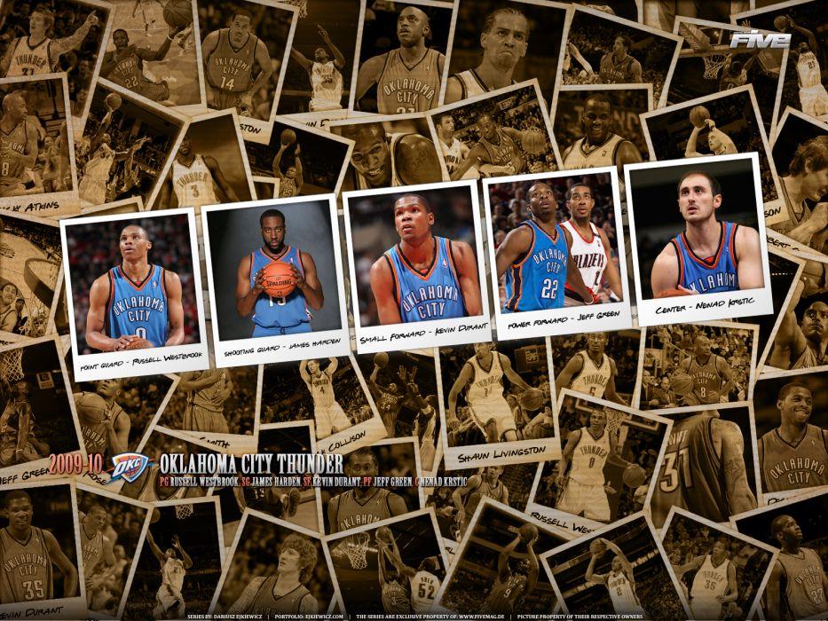 OKLAHOMA CITY THUNDER basketball nba   eh wallpaper