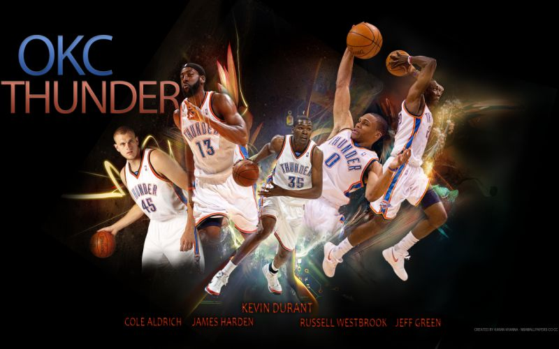 OKLAHOMA CITY THUNDER basketball nba fn wallpaper