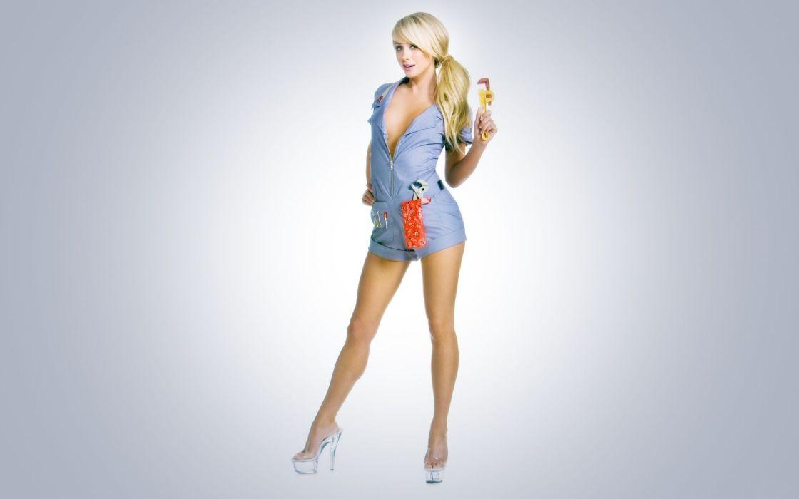 Woman Girl Beauty Blonde Sara Jean Underwood Wallpaper