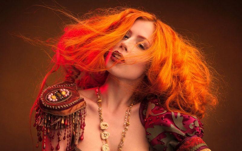 Woman Girl Beauty Redhead wallpaper