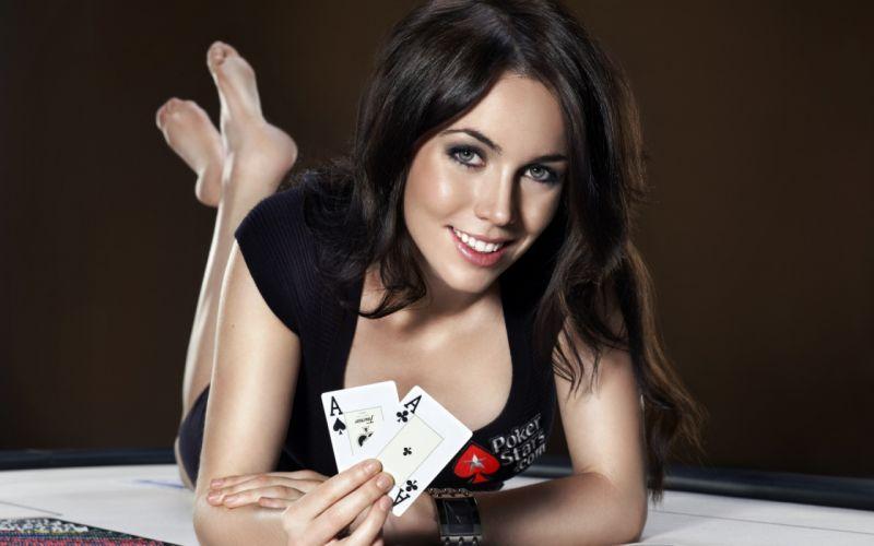 Woman Girl Beauty Brunette Poker wallpaper