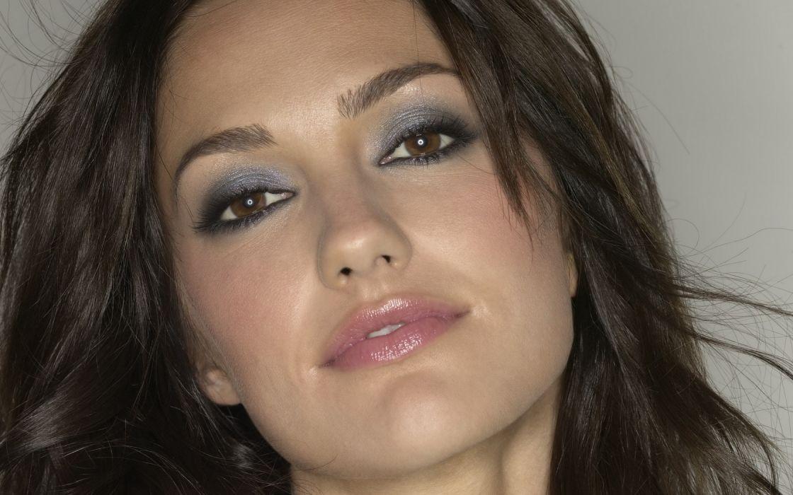 Woman Girl Beauty Actress Brunette Brown Eyes Minka Kelly wallpaper