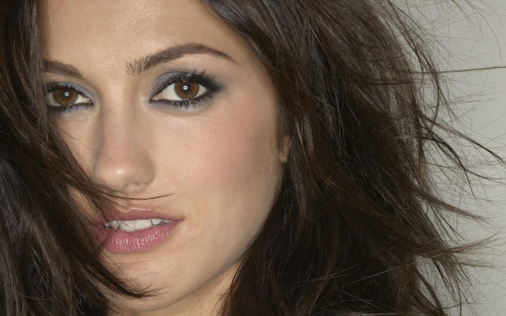 Woman Girl Beauty Actress Brunette Brown Eyes Minka Kelly