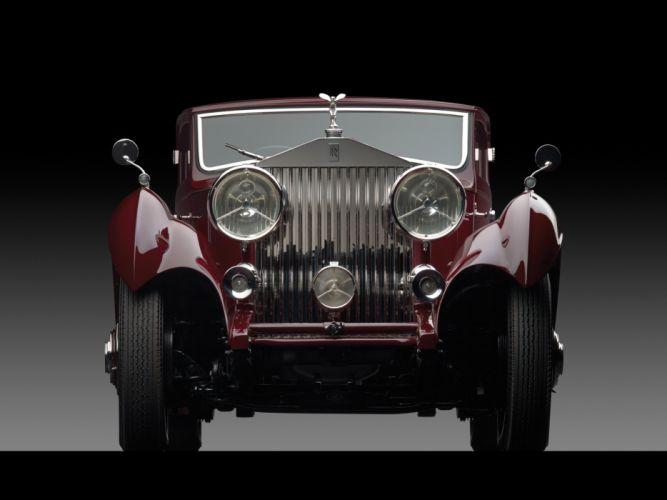 1933 Rolls Royce Phantom II Continental Coupe by Freestone & Webb luxury retro f wallpaper