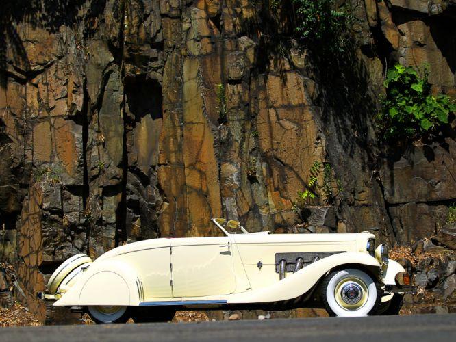 1935 Duesenberg Model-JN 560-2585 Convertible Coupe SWB by Bohman & Schwartz luxury retro g wallpaper