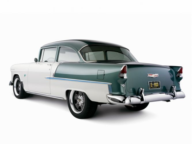 1955 Chevrolet Bel Air coupe retro muscle hot rod rods h wallpaper