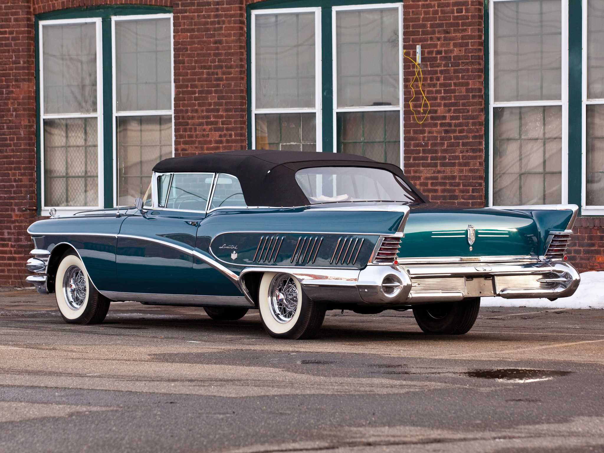 1958 buick limited convertible 756 4867x luxury retro h for Classic american convertibles