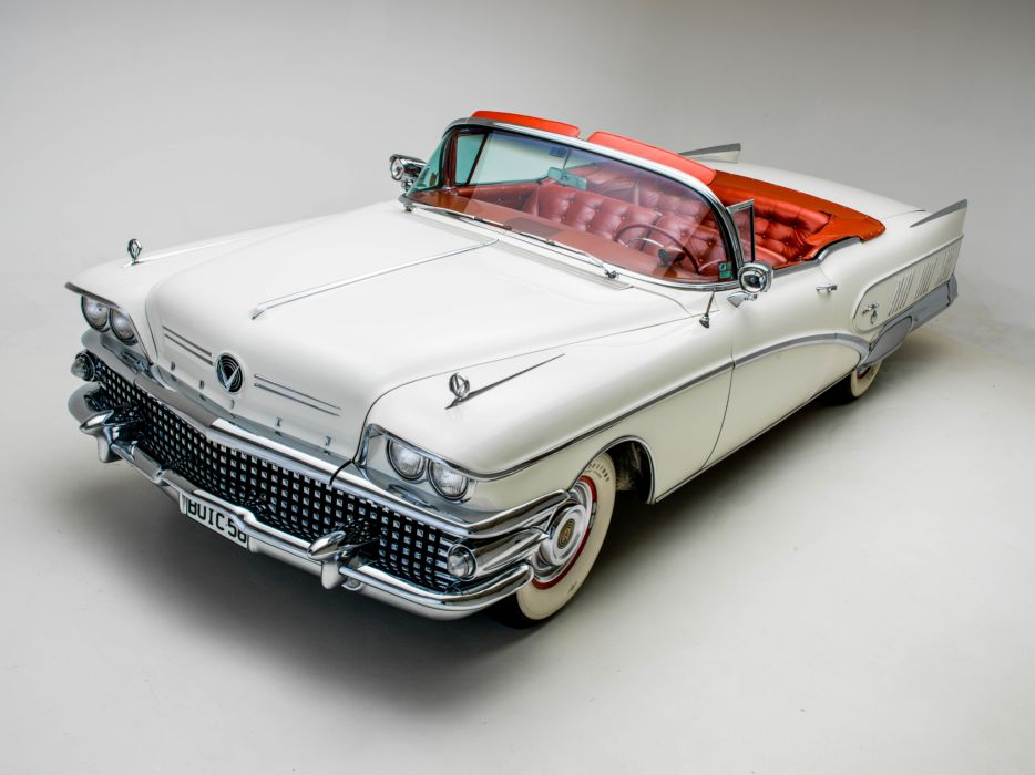 1958 Buick Limited Convertible (756-4867X) luxury retro    f wallpaper