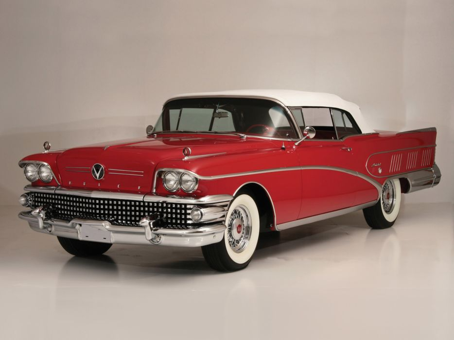 1958 Buick Limited Convertible (756-4867X) luxury retro   d wallpaper