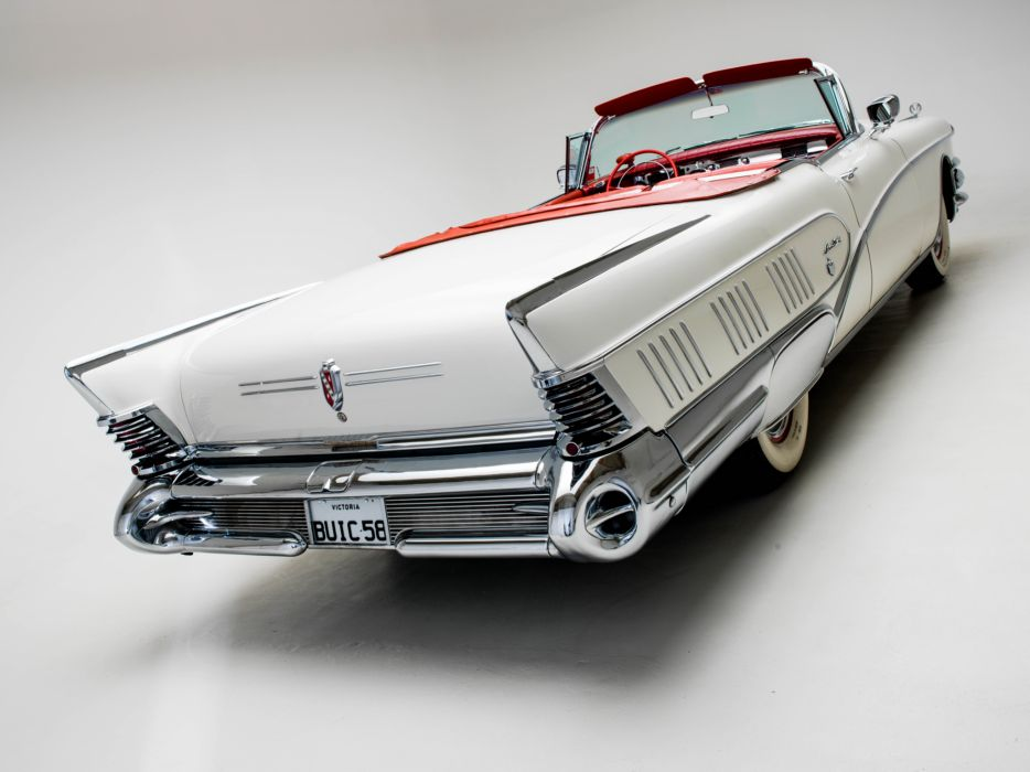 1958 Buick Limited Convertible (756-4867X) luxury retro    r wallpaper
