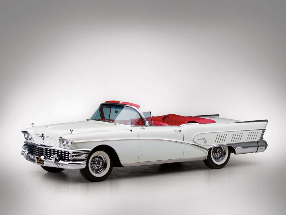 1958 Buick Limited Convertible (756-4867X) luxury retro   h wallpaper