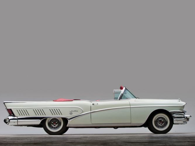 1958 Buick Limited Convertible (756-4867X) luxury retro wallpaper