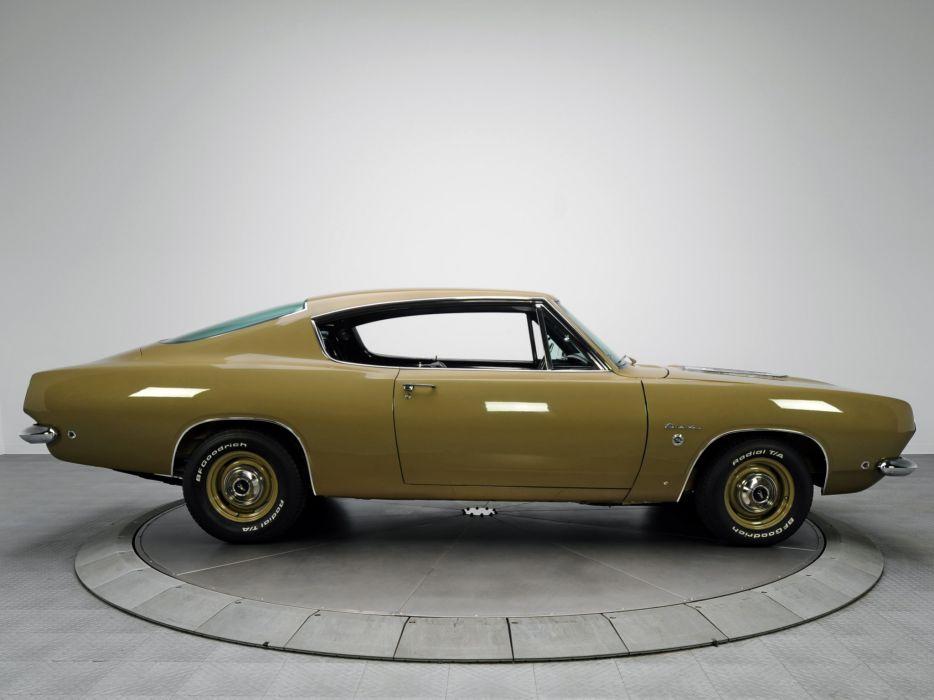 1968 Plymouth Barracuda Formula S Fastback BH29 Muscle Classic Cuda F Wallpaper