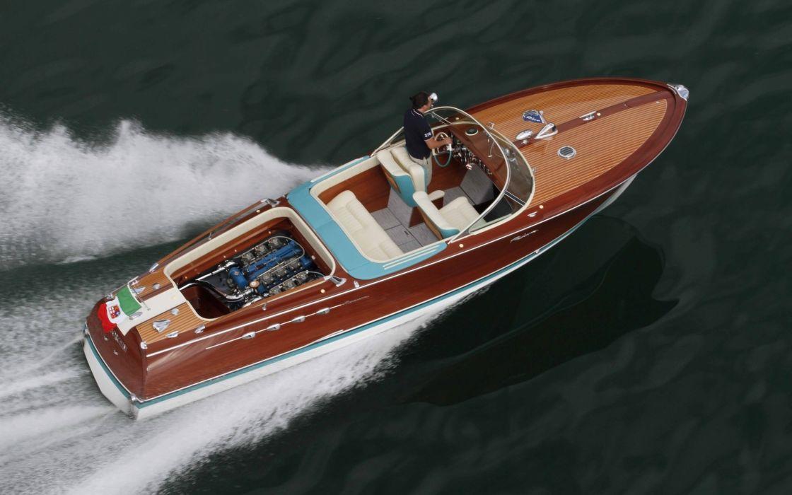 1968 Riva Aquarama Lamborghini superboat race racing boat engine       g wallpaper